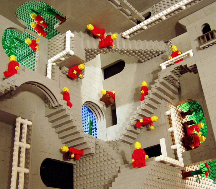 Escher Relativity in Lego